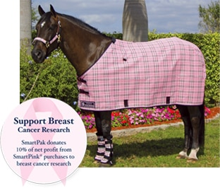 SmartPak donates 10% of net profit from SmartPink purchases to breast cancer research.