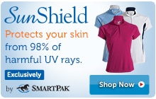 SunShield protects your skin from 98% of harmful UV rays.