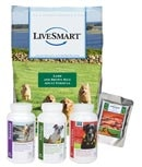 With taste test samples you can try a 3-day supply of any SmartCanine supplement or five 1 cup samples of LiveSmart dog food for free before you buy a month of Canine SmartPaks, PortionPaks, or a giant bag of food.