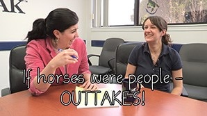 If horses were people - OUTTAKES!