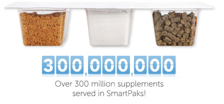 over 250000000 supplements served in SmartPaks